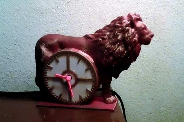 Часы Лев STL модель