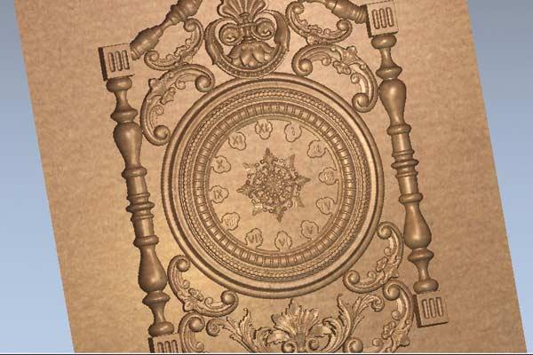 Часы настенные, STL модель 1018