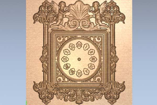 Часы с ангелочками STL модель