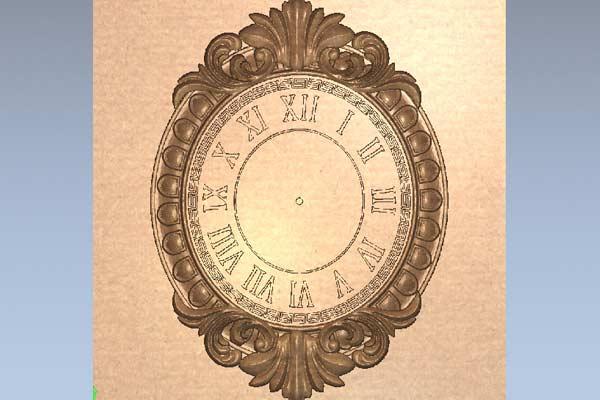 Часы настенные с узором STL модель