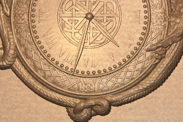 Часы с драконами STL модель