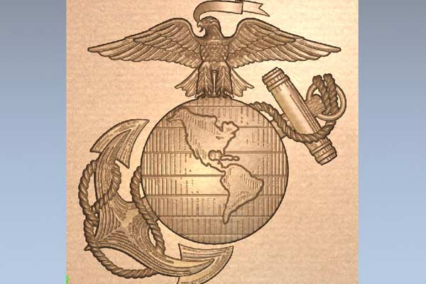 STL модель Герб морской пехоты США