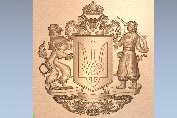 Герб Украины STL формат