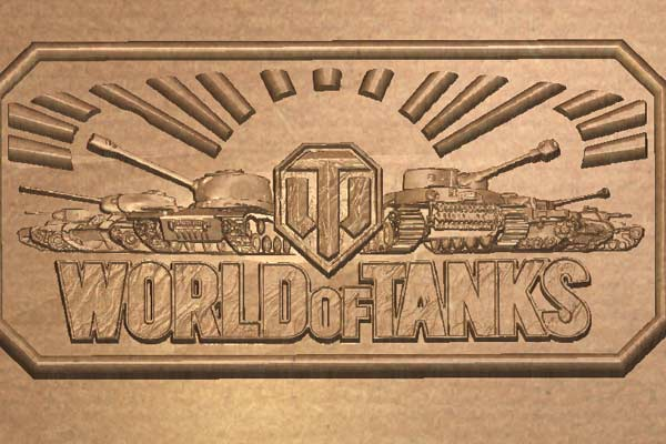 Логотип World Of Tanks STL модель