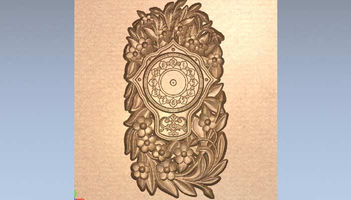 Настенные часы с цветами STL модель