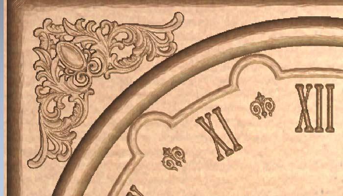 Настенные часы STL модель