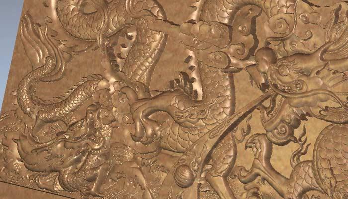 Панно Огненный дракон 3D модель STL