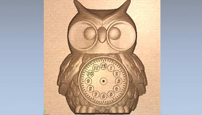 Часы сова в стиле арт STL модель
