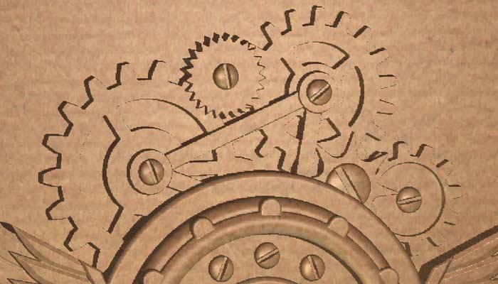 Часы в стиле стимпанк STL модель