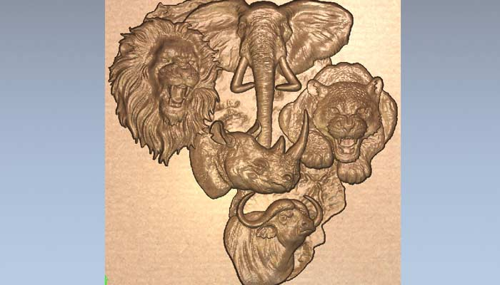 Панно звери Африки STL модель