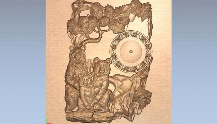 STL Модель часов - Три медведя
