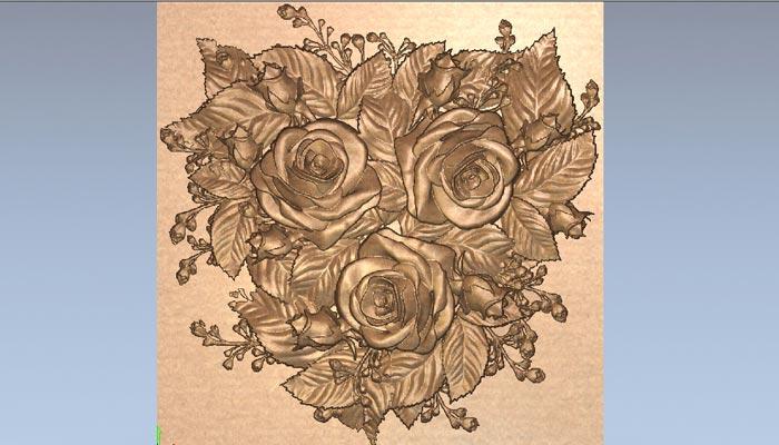 3D модель Розы в STL