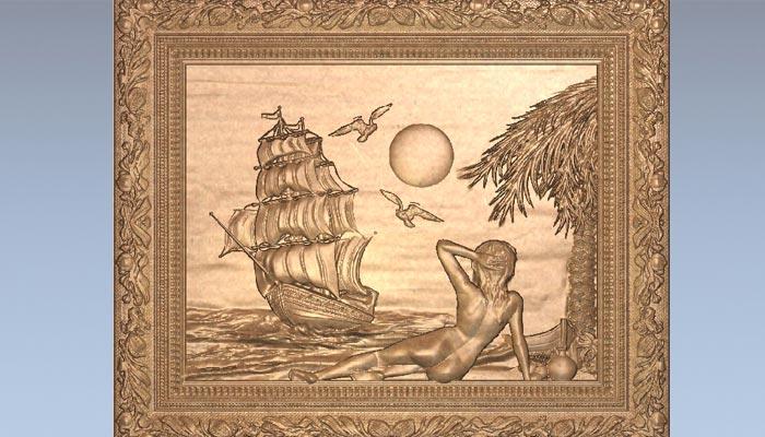 Панно Корабль на горизонте