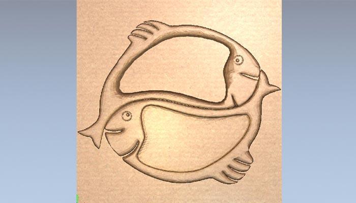 3D модель менажницы: Рыбы Инь-Янь