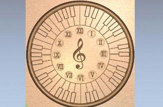 3д модель часов музыкальная тема