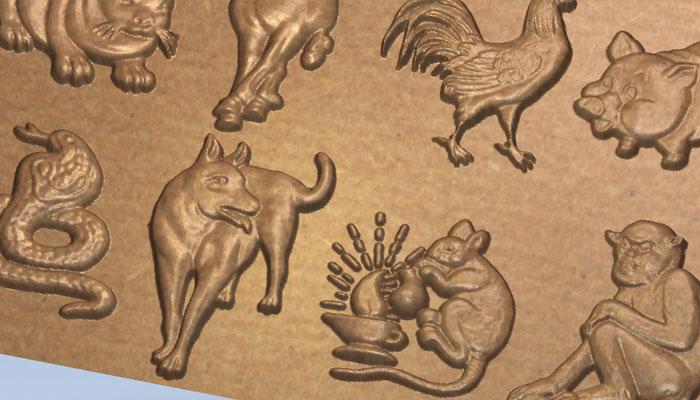 3d Набор зверей символов китайского календаря