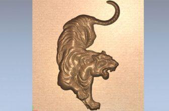 3D модель тигр в STL